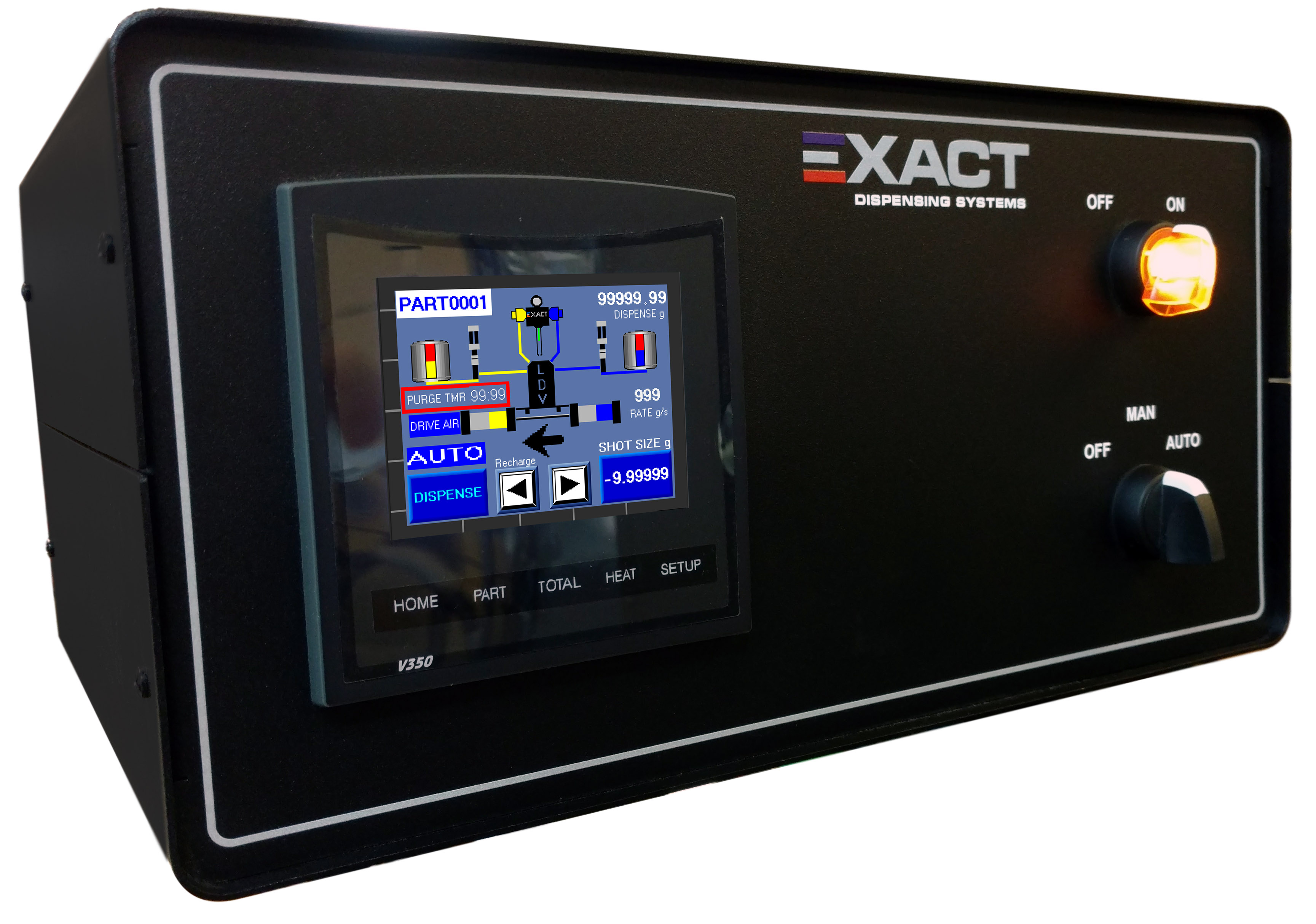 Color Touch Screen Controller for Meter Mix Solutions | EXACT Dispensing
